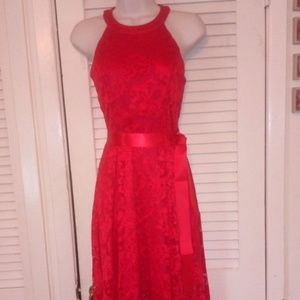 NEW, SIZE S BRIDESMAIDS HIGH-LOW LACE DRESS